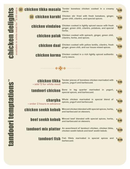 Chicken Delights – Tandoori Temptations™