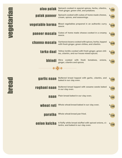 Vegetarian – Bread